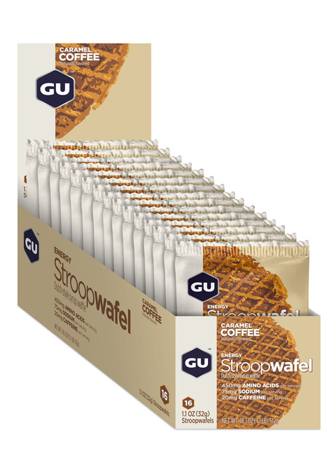 GU Energy StroopWafel Box Caramel Coffee 16 x 32g